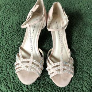 Chinese laundry 2 inch heel pale pink shoe